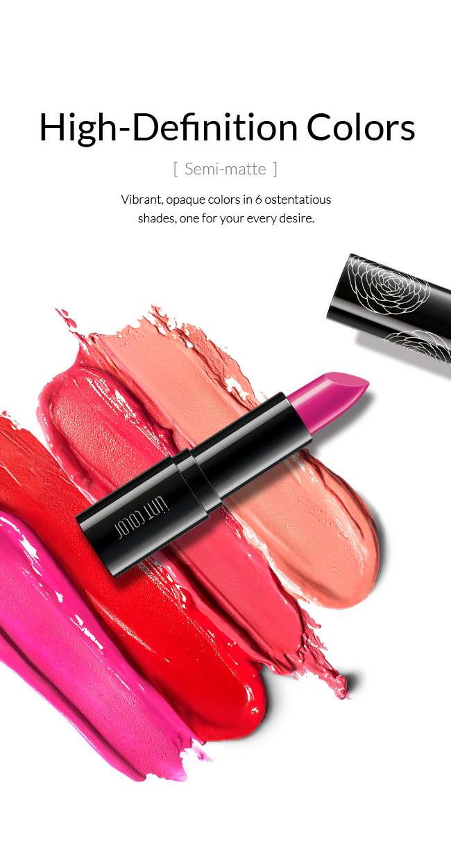 High-Definition Colors Vibrant, opaque colors in 6 ostentatious shades, one for your every desire.